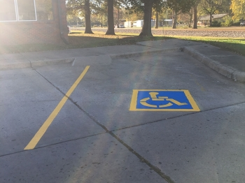 Parking Lot Paint - Handicap image