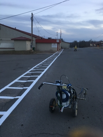 Briggs School Parking Lot Striping - Tahlequah OK