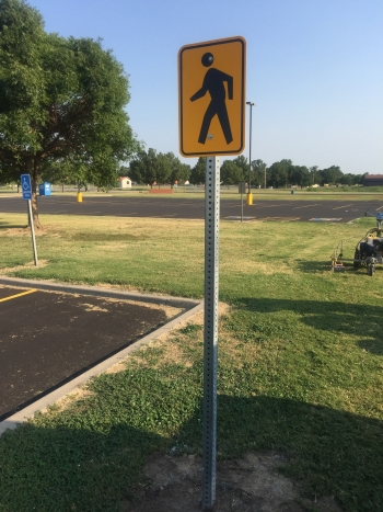 School Parking Crosswalk Signs - Claremore OK