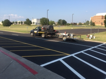 School Parking Lot & Crosswalk Striping - Claremore OK
