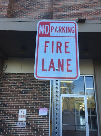 Fire Lane Signs Housing Authority - Tulsa OK