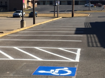 Verizon Wireless Parking Lot Striping - Tahlequah Ok