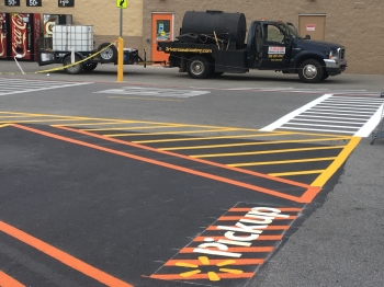 Walmart Parking Lot Striping & Sealcoating - Springdale AR